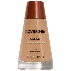 CoverGirl Clean Liquid Foundation for Normal Skin, Creamy Beige 150