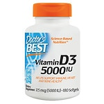 Doctor's Best Vitamin D3 5000 IU, Softgel Capsules
