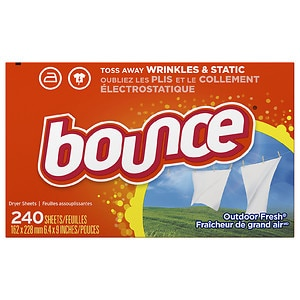 Bounce Fabric Softener Dryer Sheets, Outdoor Fresh