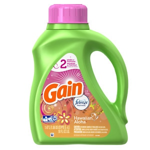 Gain with FreshLock Hawaiian Aloha Liquid Laundry Detergent, 24 Loads