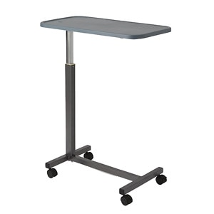 Medline Overbed Plastic Table with Wheels- 1 ea