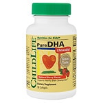 ChildLife Pure DHA, 250mg, Chewable Soft Gel Caps, Berry