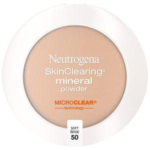 Neutrogena SkinClearing Mineral Powder, Soft Beige 50