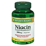 Nature's Bounty Flush Free Niacin Inositol Hexanicotinate 500 mg Capsules- 120 ea