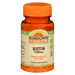 Sundown Naturals Super Strength Biotin, 7500mcg, Tablets- 50 ea