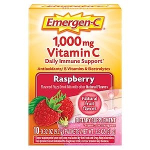 Emergen-C 1000 mg Vitamin C Travel Box, 10 pk, Raspberry