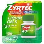 Zyrtec Liquid Gels- 40 ea