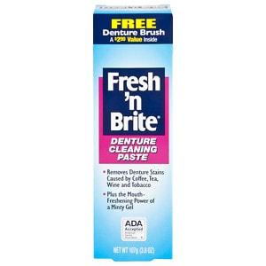 Fresh and Brite Regular Paste & Gel Denture Toothpaste- 3.8 oz