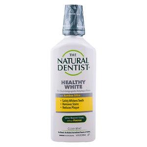 The Natural Dentist Pre-Brush Whitening Antigingivitis Rinse, Clean Mint- 16.9 fl oz
