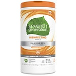 Seventh Generation Disinfecting Wipes, Lemongrass &amp; Thyme