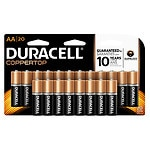 Duracell Coppertop Alkaline Batteries, AA