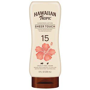 Hawaiian Tropic Sheer Touch Lotion Sunscreen, SPF 15- 8 fl oz