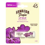 Hawaiian Tropic Lip Balm Stick Sunscreen, SPF 45+, Tropical- .14 oz