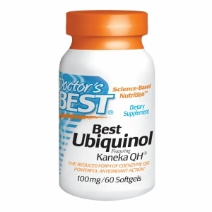 Doctor's Best Ubiquinol Featuring Kaneka's QH, 100mg, Softgels