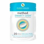 method Smarty Dish Dishwasher Detergent Tabs, Free of Dyes + Perfumes- 20 ea