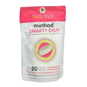 method Smarty Dish Dishwasher Detergent Tabs, Pink Grapefruit- 20 ea