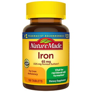 Nature Made Iron, 65mg, Tablets- 180 ea
