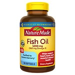 Nature Made Fish Oil 1200mg + Vitamin D 1000 IU, Liquid Softgels