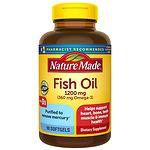 Nature Made Fish Oil 1200mg + Vitamin D 1000 IU, Liquid Softgels- 90 ea