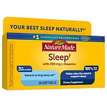 Nature Made Natural Sleep Aid, Night Supply, Liquid Softgels