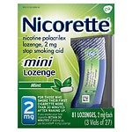 Nicorette Nicotine Polacrilex Mini Lozenge, 2mg, Mint