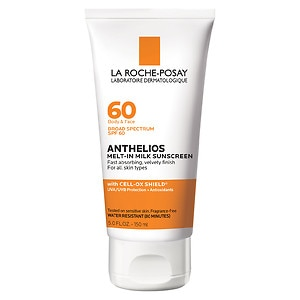 La Roche-Posay Anthelios 60 Melt-In Sunscreen Milk, SPF 60, Face & Body, For all skin types- 5 fl oz