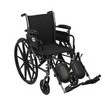 Cruiser III Light Weight Wheelchair, 18 inch Detachable, Height Adjustable Desk Arms, Black