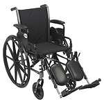 Cruiser III Light Weight Wheelchair, 20 inch Flip Back Desk Arms, Black