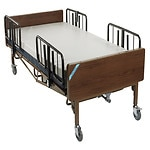 Drive Medical Full Electric Heavy Duty  Bariatric Hospital Bed with T Rails and Mattress, 750 pound limit- 1 ea