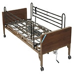 Drive Medical Delta Ultra Light Full Electric Low Bed with Full Rails- 1 ea