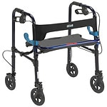 Drive Medical Clever Lite Rollator Walker, 8 Inch Casters, Flame Blue- 1 ea