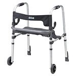 Drive Medical Clever Lite LS Rollator Walker with Seat and Push Down Brakes- 1 ea
