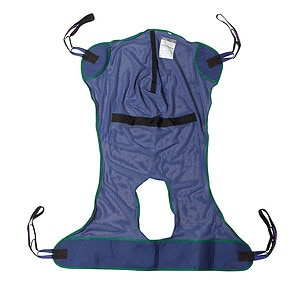 Drive Medical Mesh Full Body Patient Lift Sling with Commode Cutout, Medium