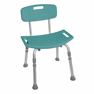 Drive Medical Bathroom Safety Shower Tub Bench Chair with Back, Teal