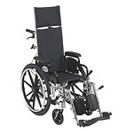 Drive Medical Viper Plus Lightweight Reclining Wheelchair w Leg