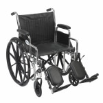 Drive Medical Chrome Sport Wheelchair with Detachable Desk Arms