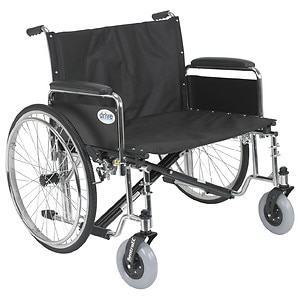 Drive Medical Sentra EC Heavy Duty Extra Wide Wheelchair with Detachable Full Arms, 30 inch