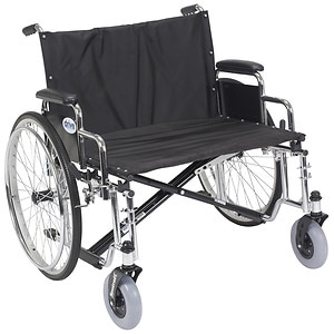 Drive Medical Sentra EC Heavy Duty Extra Wide Wheelchair with Detachable Desk Arms, 28 inch