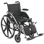 Drive Medical Viper Wheelchair with Flip Back Removable Desk Arms and Elevating Leg Rest, 12 Inch- 1 ea