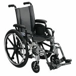 Drive Medical Viper Wheelchair with Flip Back Removable Desk Arms