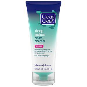 Clean & Clear Deep Action Cream Cleanser, Oil-Free- 6.5 oz
