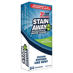 StainAway Plus Powered Professional Strength Denture Cleanser- 8.1 fl oz