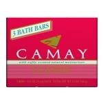 Camay Bar Soap, Softly Scented, 3 pk- 4 oz