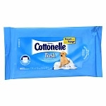 Cottonelle Flushable Moist Wipes, Travel Size Pouch, Fresh