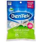 DenTek Triple Clean Floss Picks, Mouthwash Blast- 150 ea