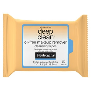 Neutrogena Deep Clean Oil-Free Makeup Remover Cleansing Wipes- 25 ea