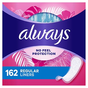 Always Thin Dailies Wrapped Liners, Regular, Unscented