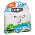 Schick Hydro 3 Blade Razor Cartridge Refills + 1 Schick Hydro 5- 5 ea