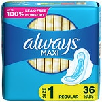 Always Maxi Pads, Regular with Flexi-Wings- 36 ea