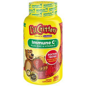 L'il Critters Immune C Plus Zinc and Echinacea, Gummy Bears, Assorted Fruit- 190 ea